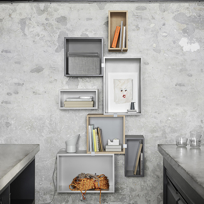 Muuto  |  Stacked Shelf System Grey