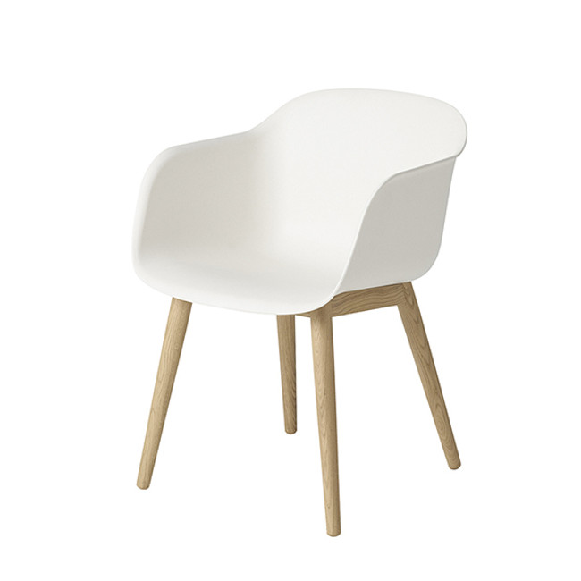 Muuto  |  Fiber Chair Wood Base