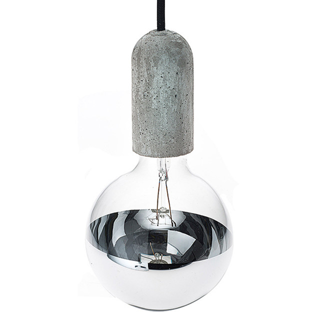 NUD Collection  |  Concrete Base & Mirror Globe Combination Set