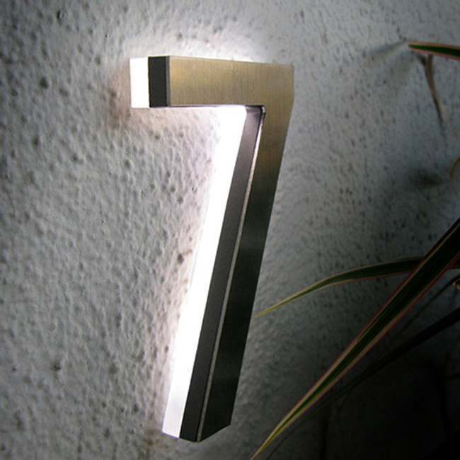 "Luxello  |  Modern LED House Number 5"" Outdoor"