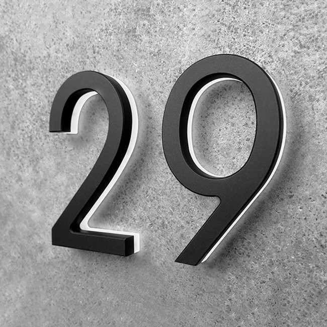 Luxello  |  LED Black House Number 5""