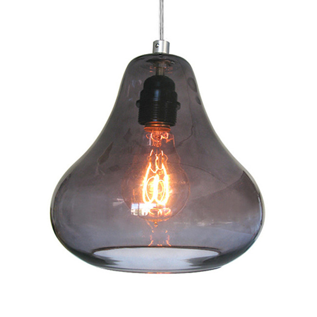 Luxello  |  Pear Pendant Smoke Grey