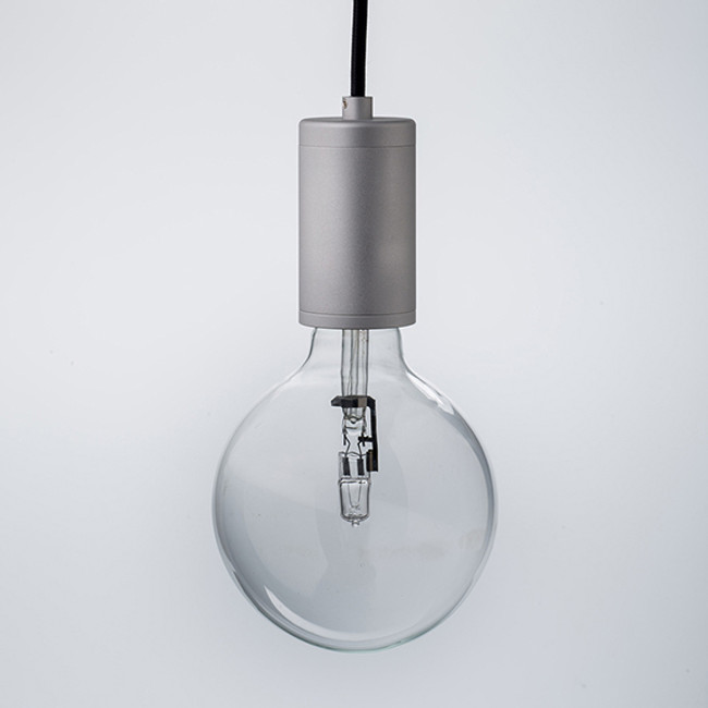 Luxello  |  Pure Pendant Brushed Aluminium With Black Cord