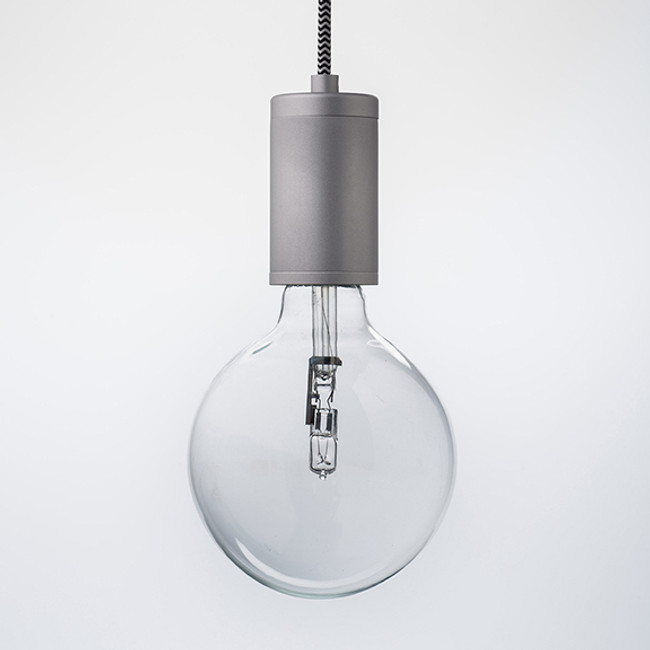 Luxello  |  Pure Pendant Brushed Aluminium With ZigZag Cord