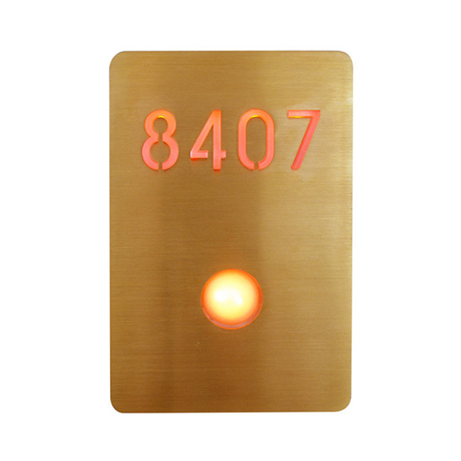 Luxello  |  Illuminated Number Sign Bronze