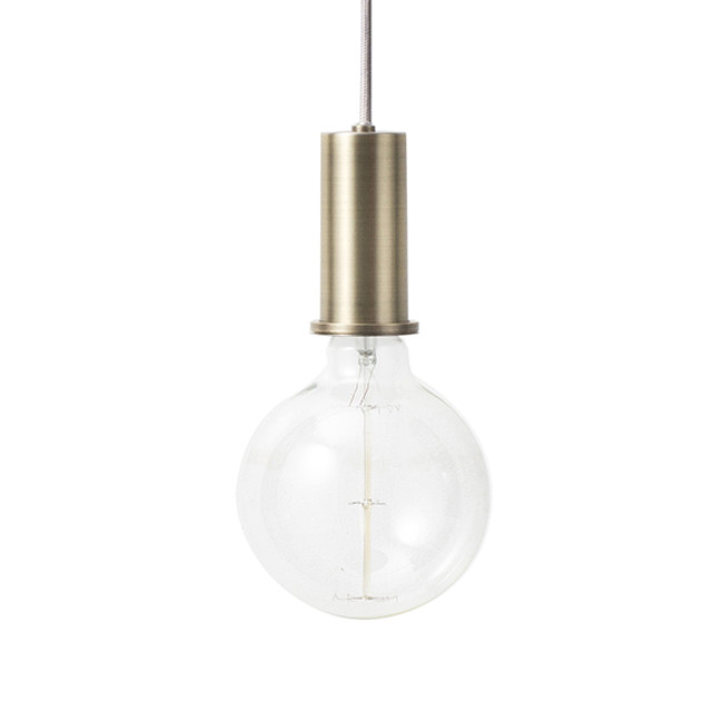 Ferm Living  |  Socket Pendant Brass
