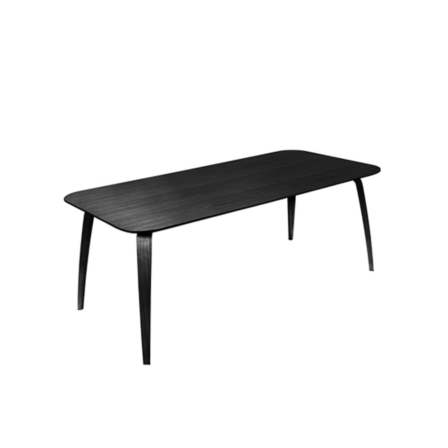 Gubi Dining Table Rectangular 90x180 in blackstained