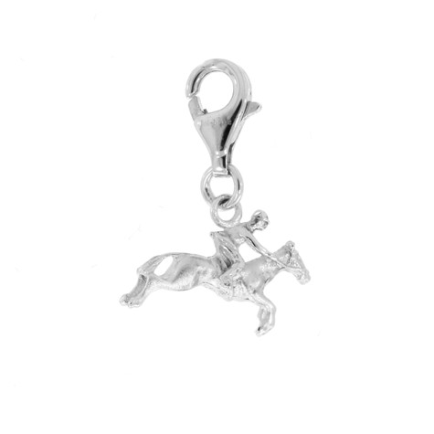 Sterling Silver Horse & Rider Charm