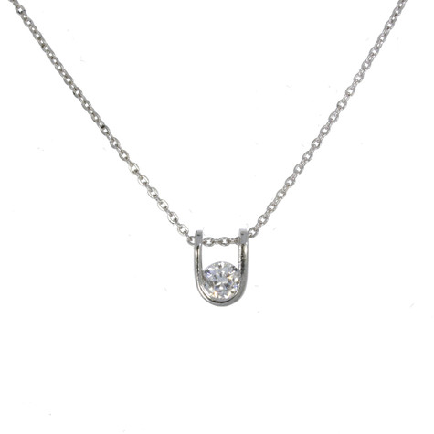 Sterling Silver and Swarovski Crystals Horseshoe Pendant