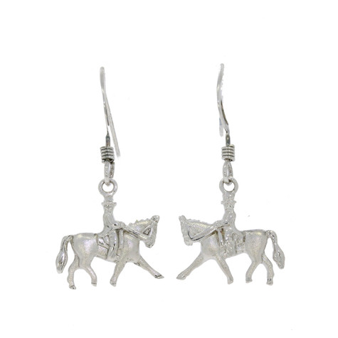Horse Earrings  Sterling Silver and Swarovski Crystals