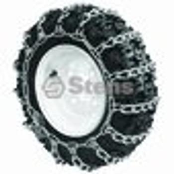 2 Link Tire Chain / 4 X 4.80 X 8 Deep Lug Tread - (UNIVERSAL) - 180428