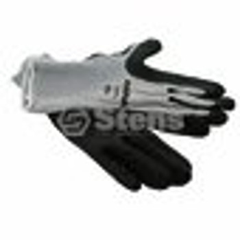 Coated Work Glove / Gray String Knit, Large - (UNIVERSAL) - 751151