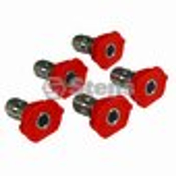 Composite Spray Nozzle / 3.0 Size, Red, 5 Pack - (UNIVERSAL) - 758058