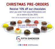 Pre-order Chocolates For Christmas 2016