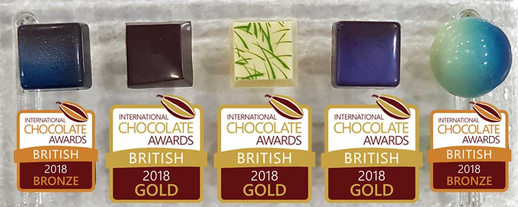 Award-winning chocolates - Over 40 awards since 2014