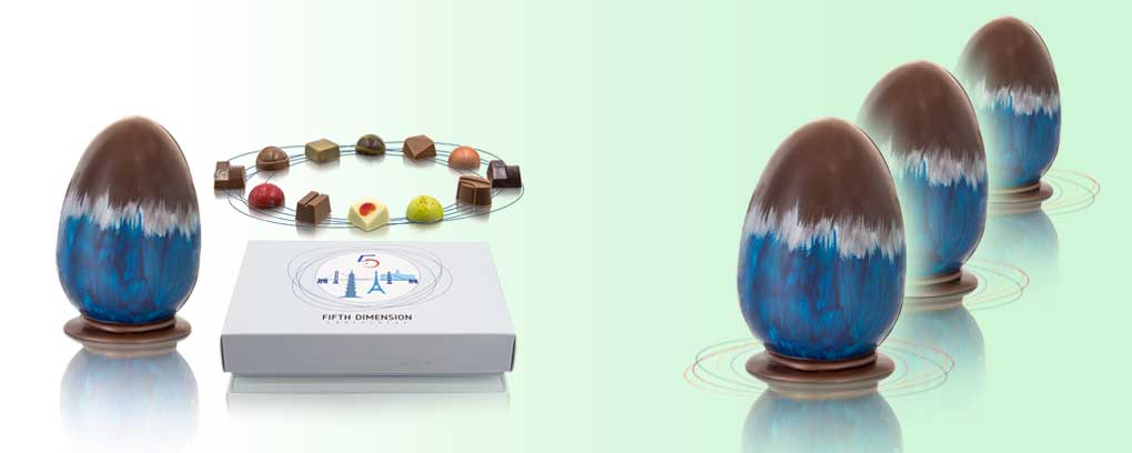 Handmade Colombia 70% Dark Chocolate Easter Egg & Journey Box of Filled Chocolates