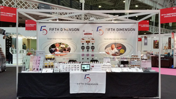 Our Stand at the Chocolate Show London in 2016