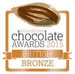 International Chocolate Awards 2015 British Bronze Award