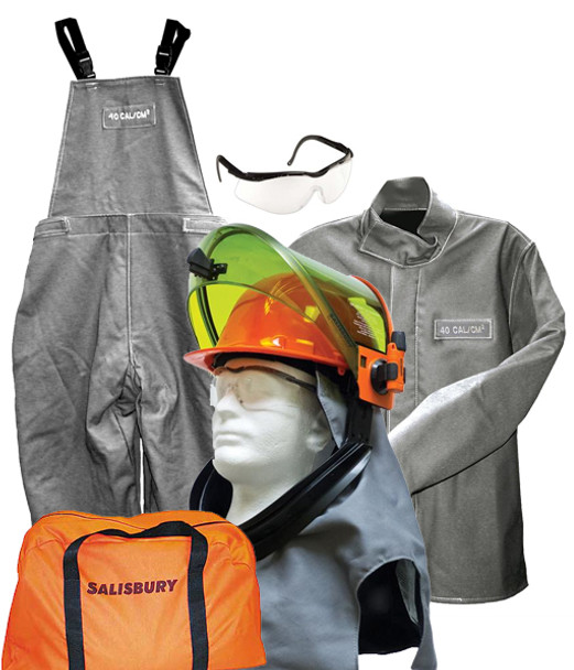 Salisbury 40 cal/cm² Arc Flash Protection With Jacket, Bib Overalls and Lift Front Hood Kit ## SK40-LFH40 ##