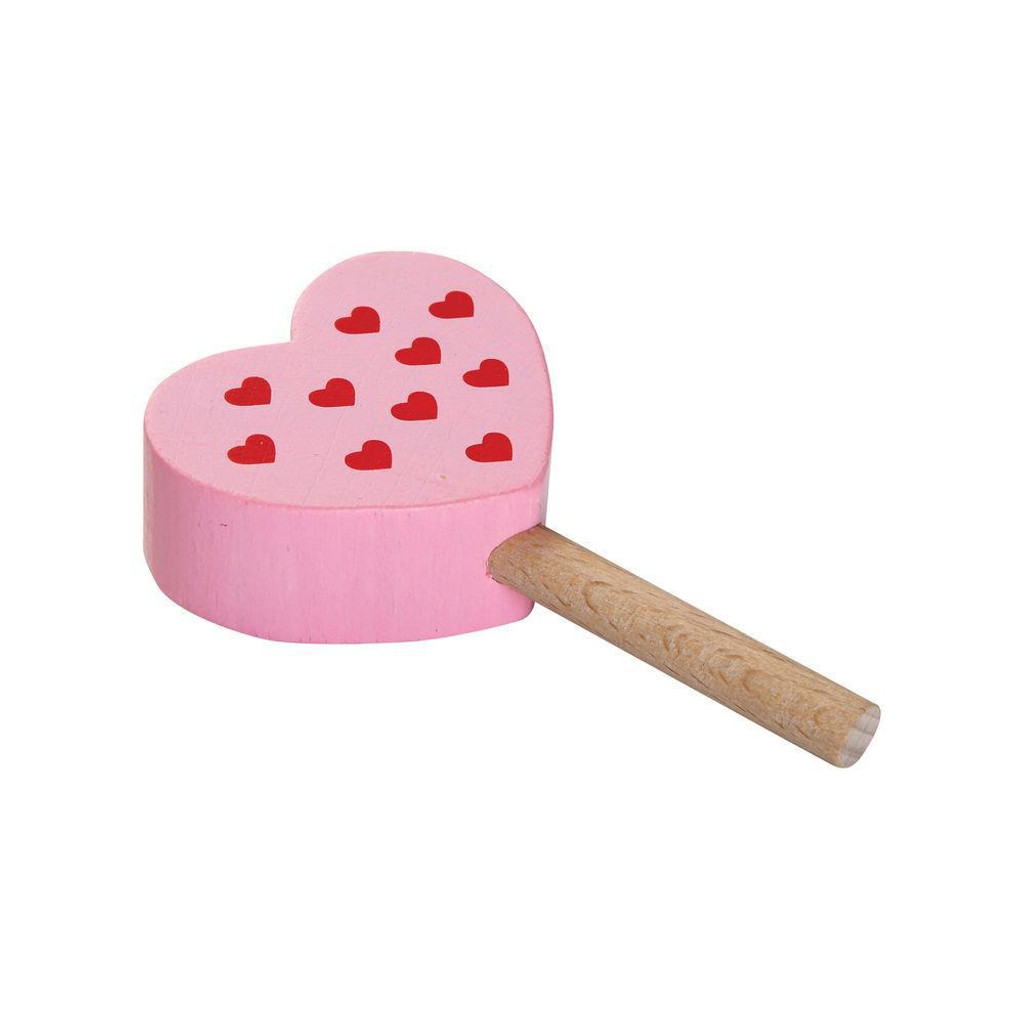 raspberry heart ice cream bar