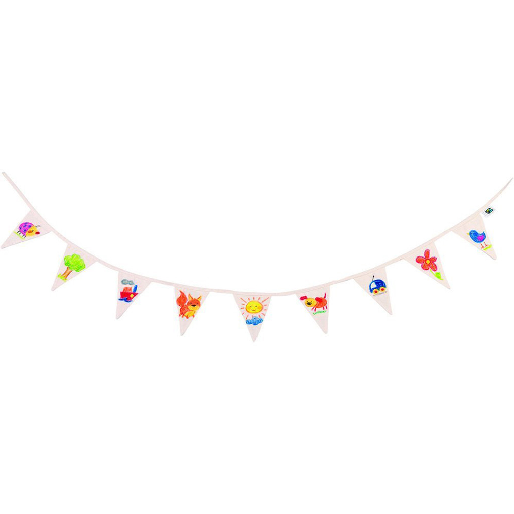 DIY flag garland, to be painted