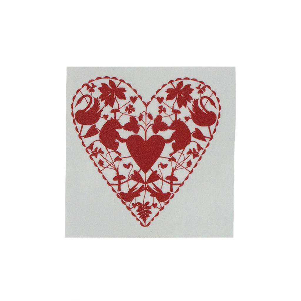 heart doilies tattoos