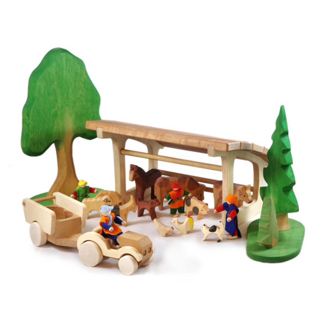 small wooden stall