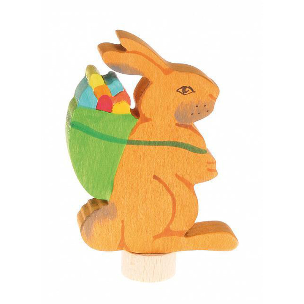 handcoloured Easter bunny ornament for birthday ring