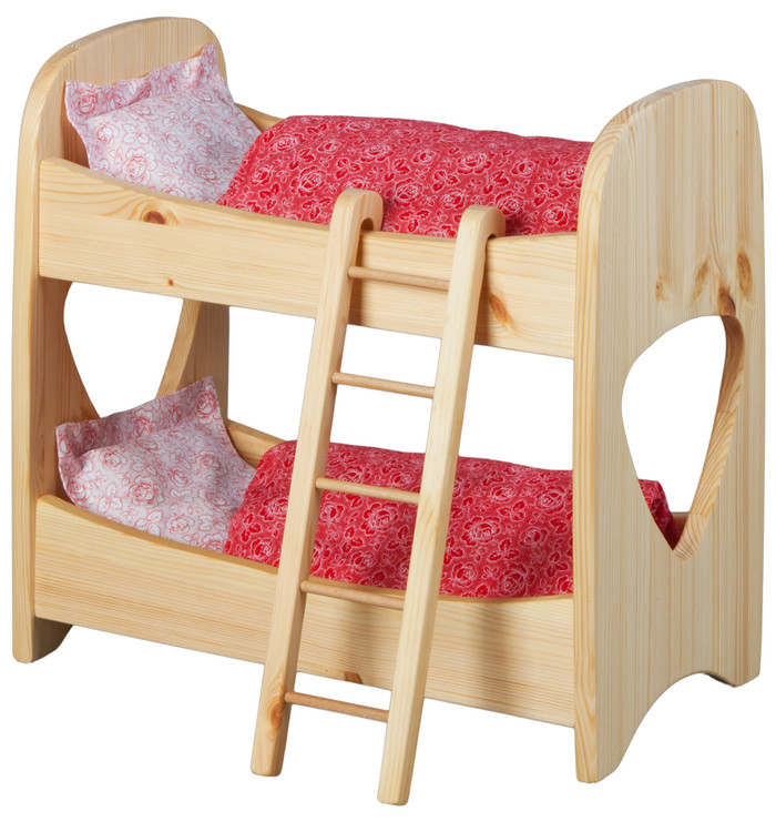 dolly's bunk beds w. ladder and bedding