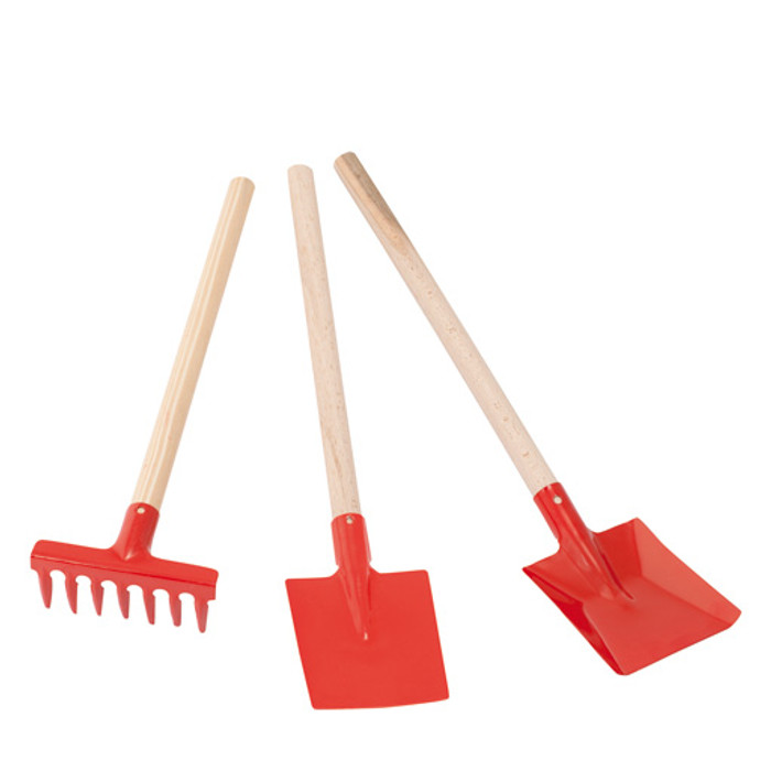 children's gardening set, red