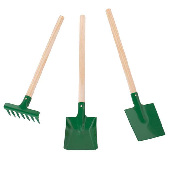 children's gardening set, green