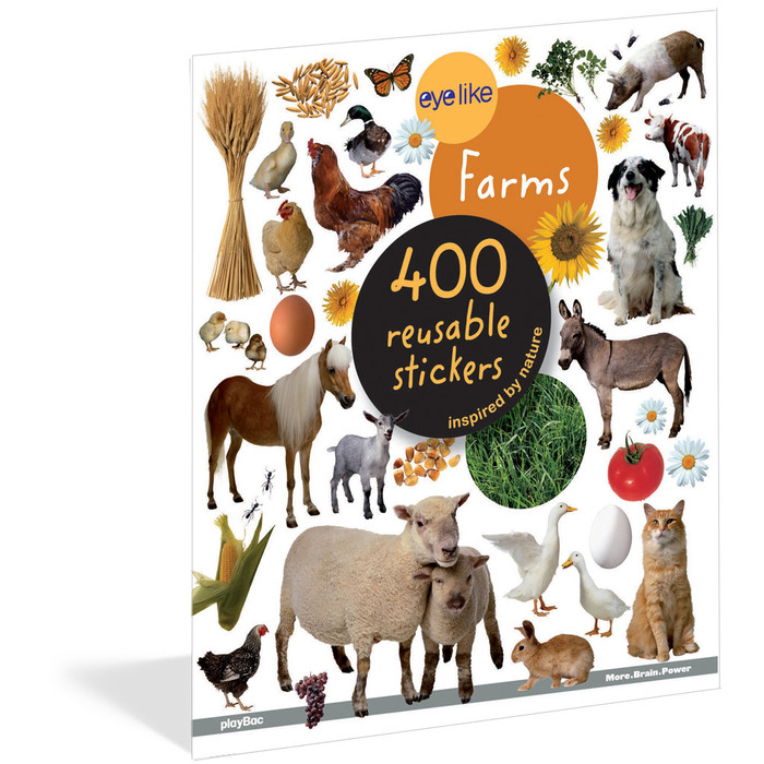 On The Farm, 400 reusable stickers