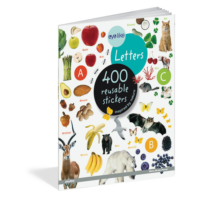 Letters, 400 reusable stickers