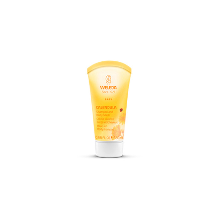 Weleda Calendula Shampoo & Body Wash, travel size.  Made in Germany.