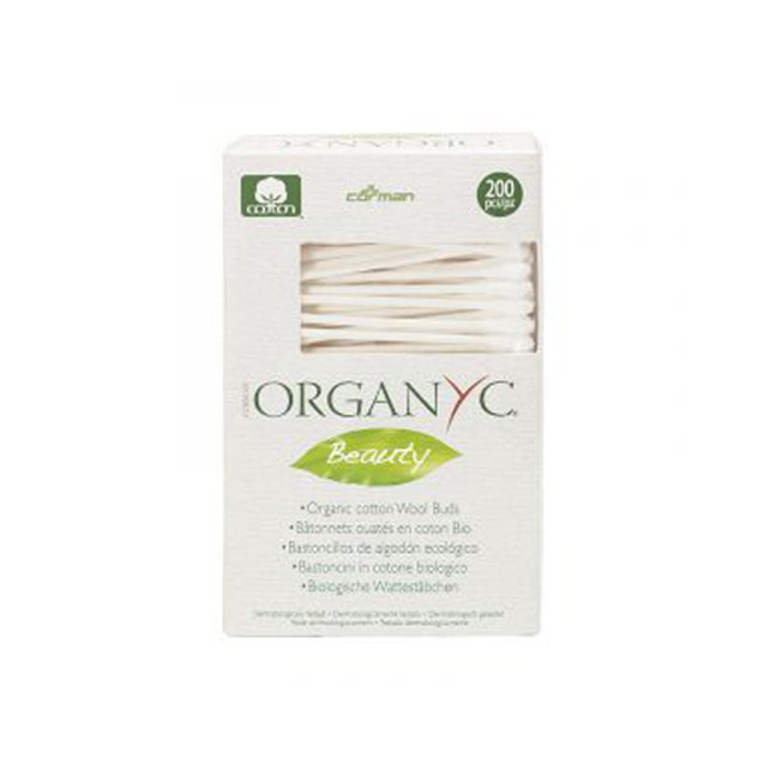 OrganYc biodegradable cotton swabs