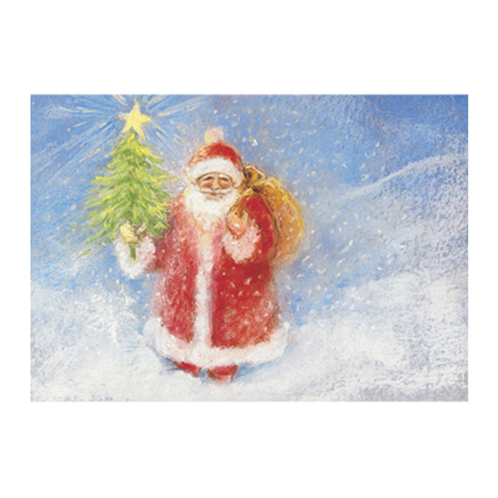 Father Christmas postcard by M. v. Zeyl