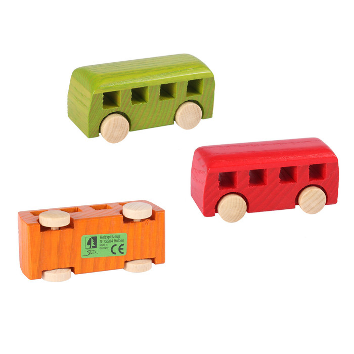 small wooden bus