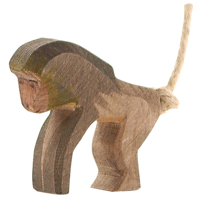 Ostheimer baboon standing.  Hand-carved in Germany.  5 cm high.