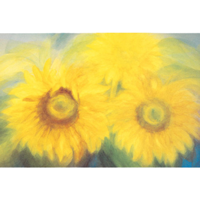 Sunflowers postcard by M. v. Zeyl