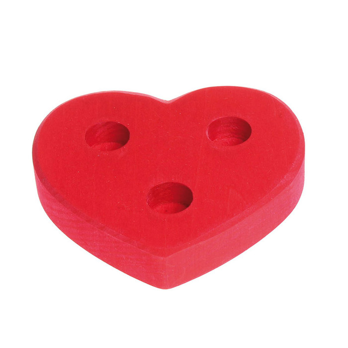 red heart ornament base