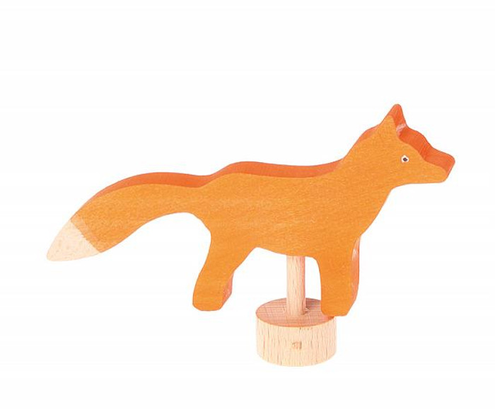 Grimm's fox ornament for birthday ring.  Made in Germany.