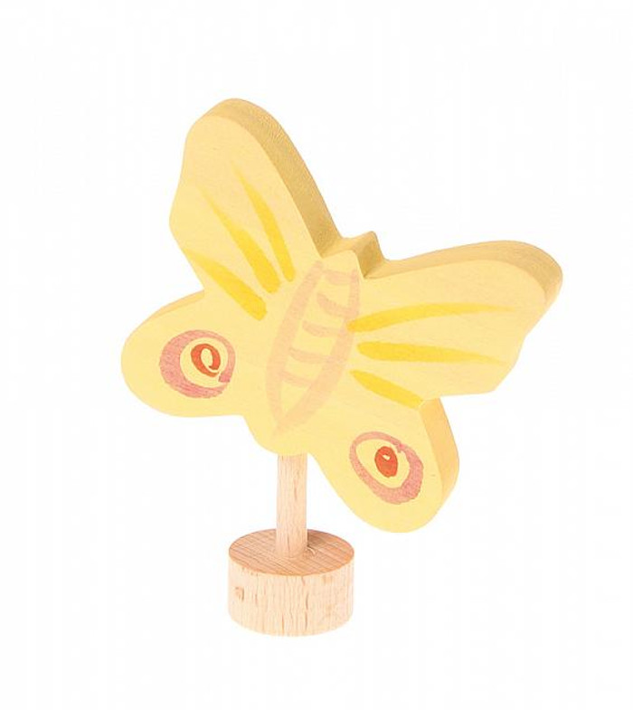 yellow butterfly ornament for birthday ring