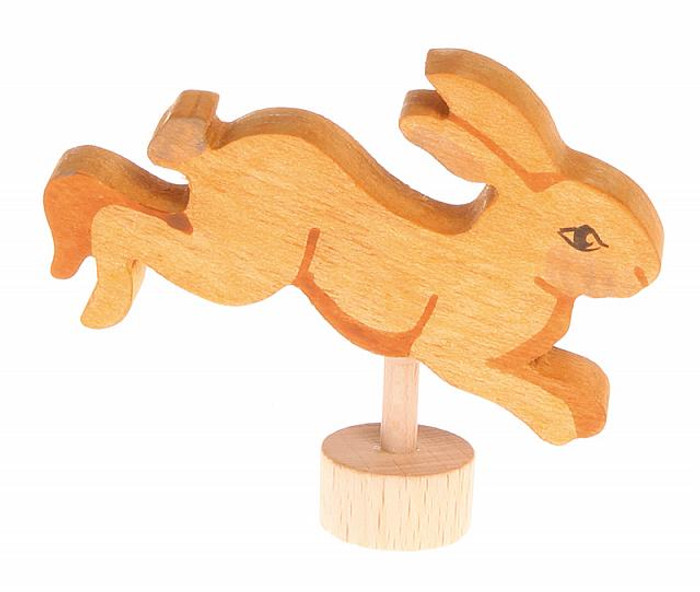 Grimm's handcoloured jumping rabbit ornament for birthday ring.