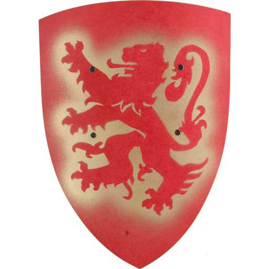 red bergish lion shield
