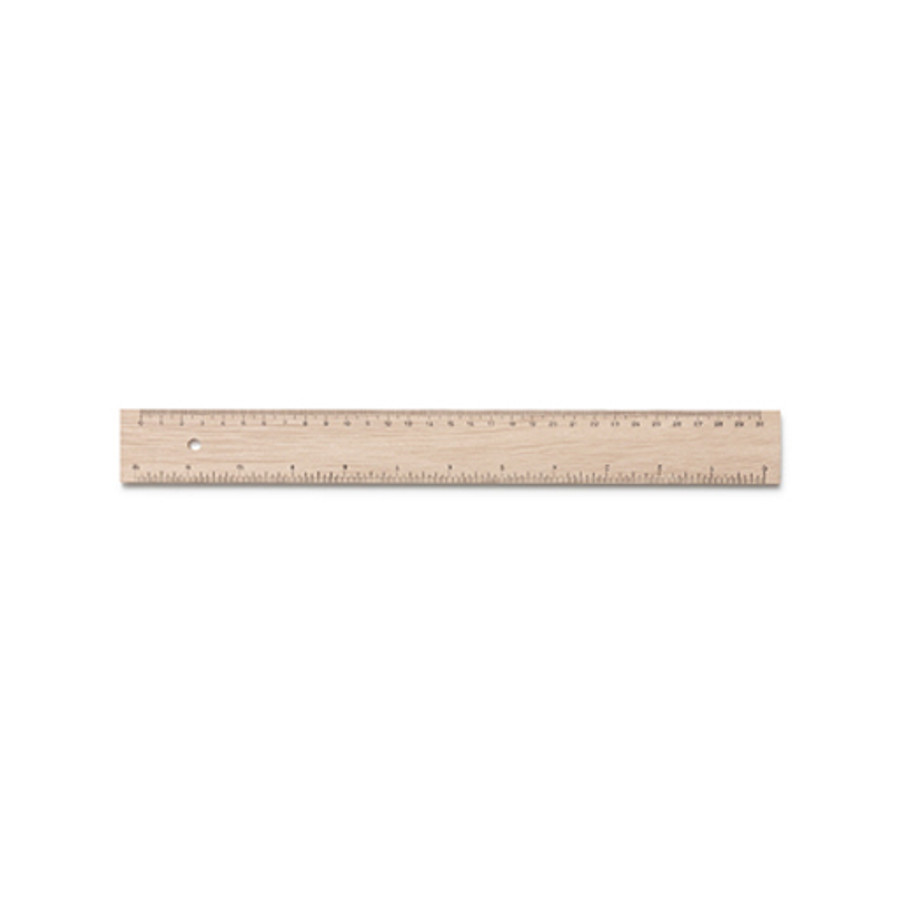 wooden ruler (cm & inches)