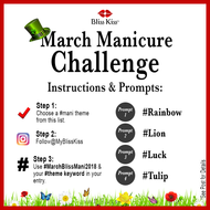 March Bliss Kiss Manicure Challenge