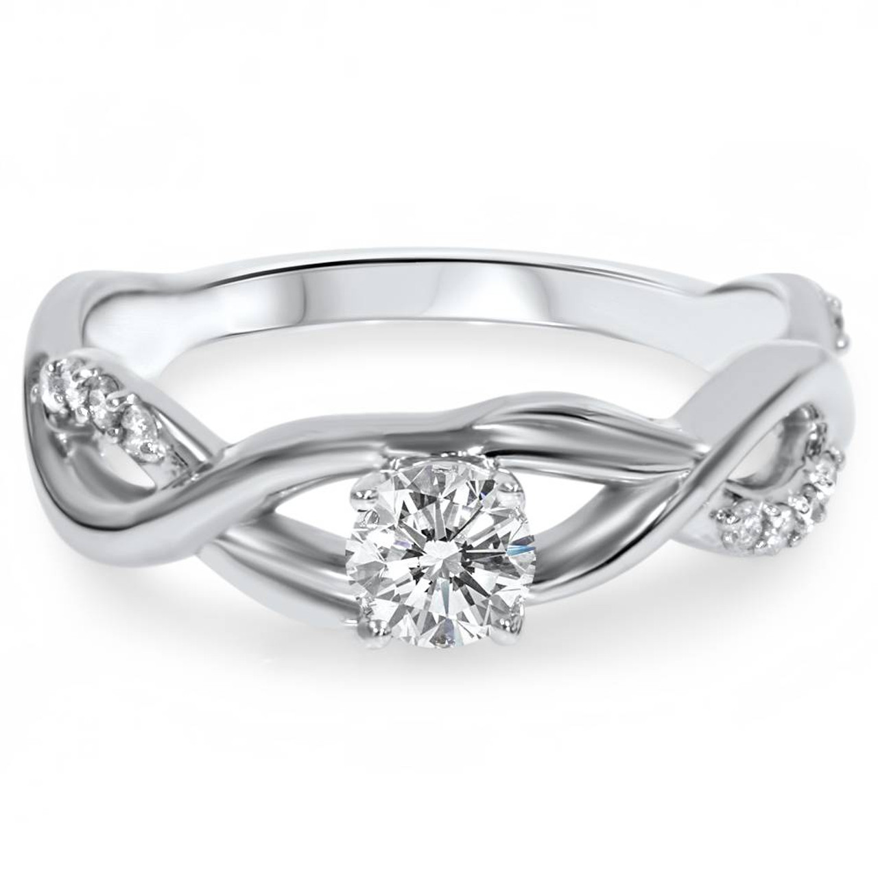 white p gold diamond ring tw accents infinity with engagement
