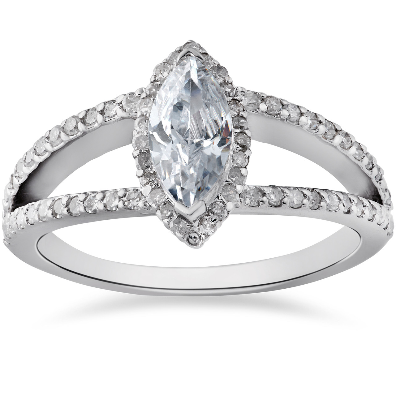 engagement oval semi in with diamond gold rings halo white gallery split ring shank scroll