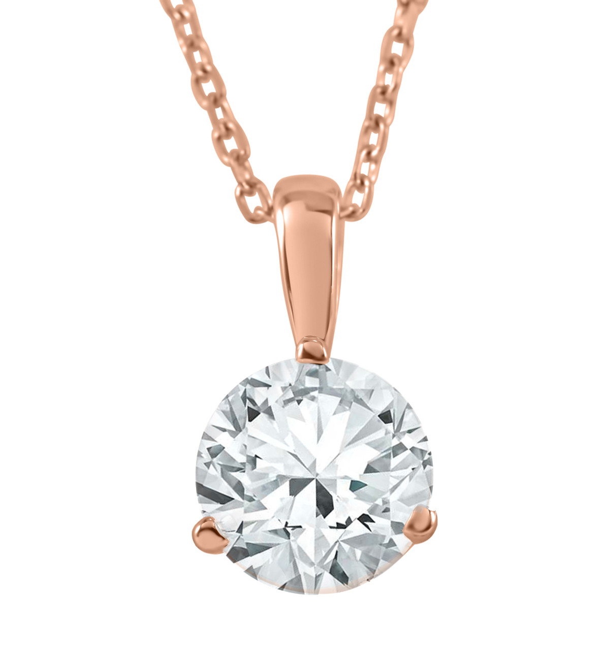 union white prw diamond pendant solitaire princess gold
