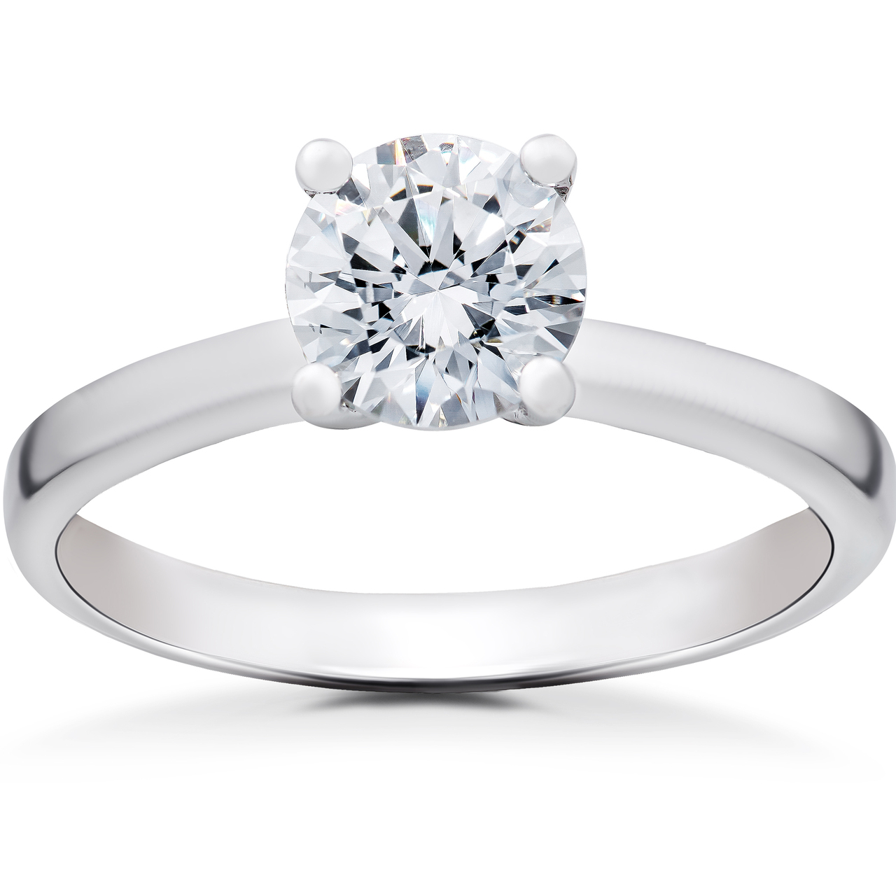 1 Ct Lab Created Eco Friendly Diamond Angelica Engagement Ring 14k White  Gold (F, VS)
